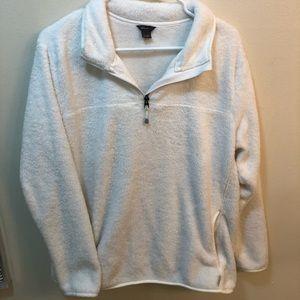 Eddie Bauer Fuzzy 1/4 zip Pullover